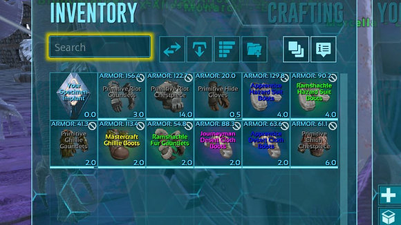 Random Pack Of Armor For Genesis (Also Available On Gen1268)