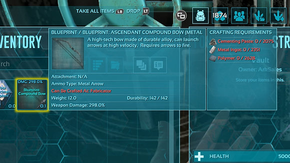 298% Damage ACD Maxed Out Compound Bow BP