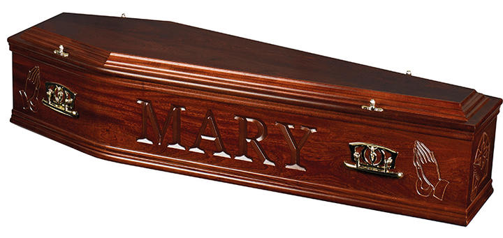 Artiste coffin dark mahogany