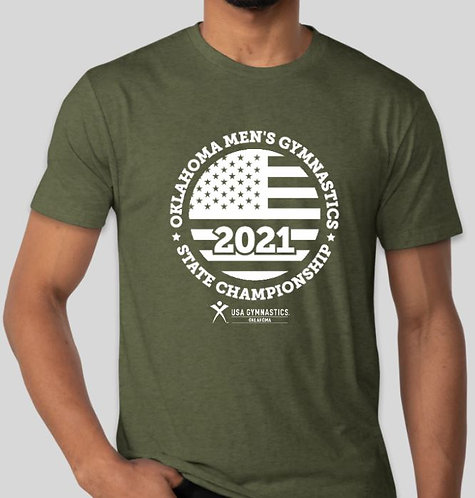 Vintage Military Green 2021 State Shirt