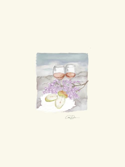 Lavender Picnic Print (Watercolor Paper)