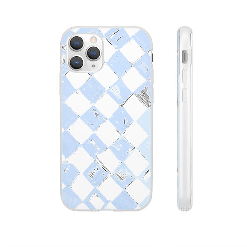 Periwinkle Check Phone Case