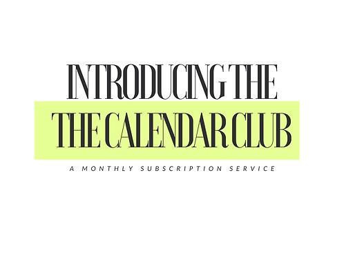 Calendar Club Subscription