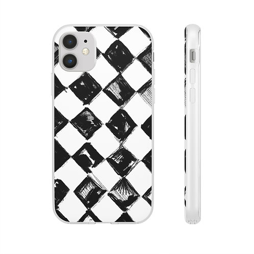 Black Check Phone Case