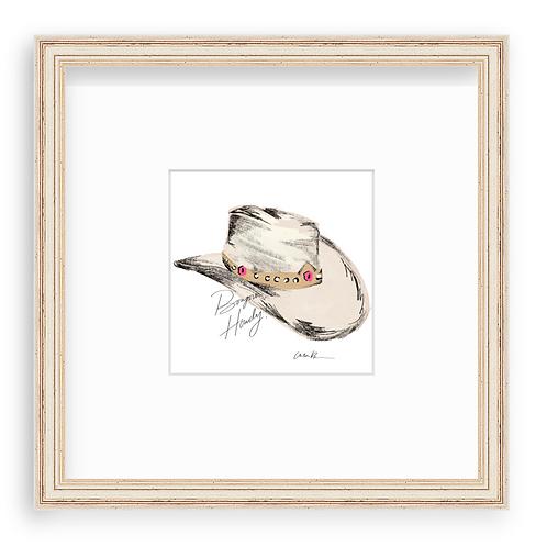 Beige Cowboy Hat (Framed)