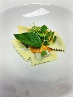 Ravioli with Cream Napolitana