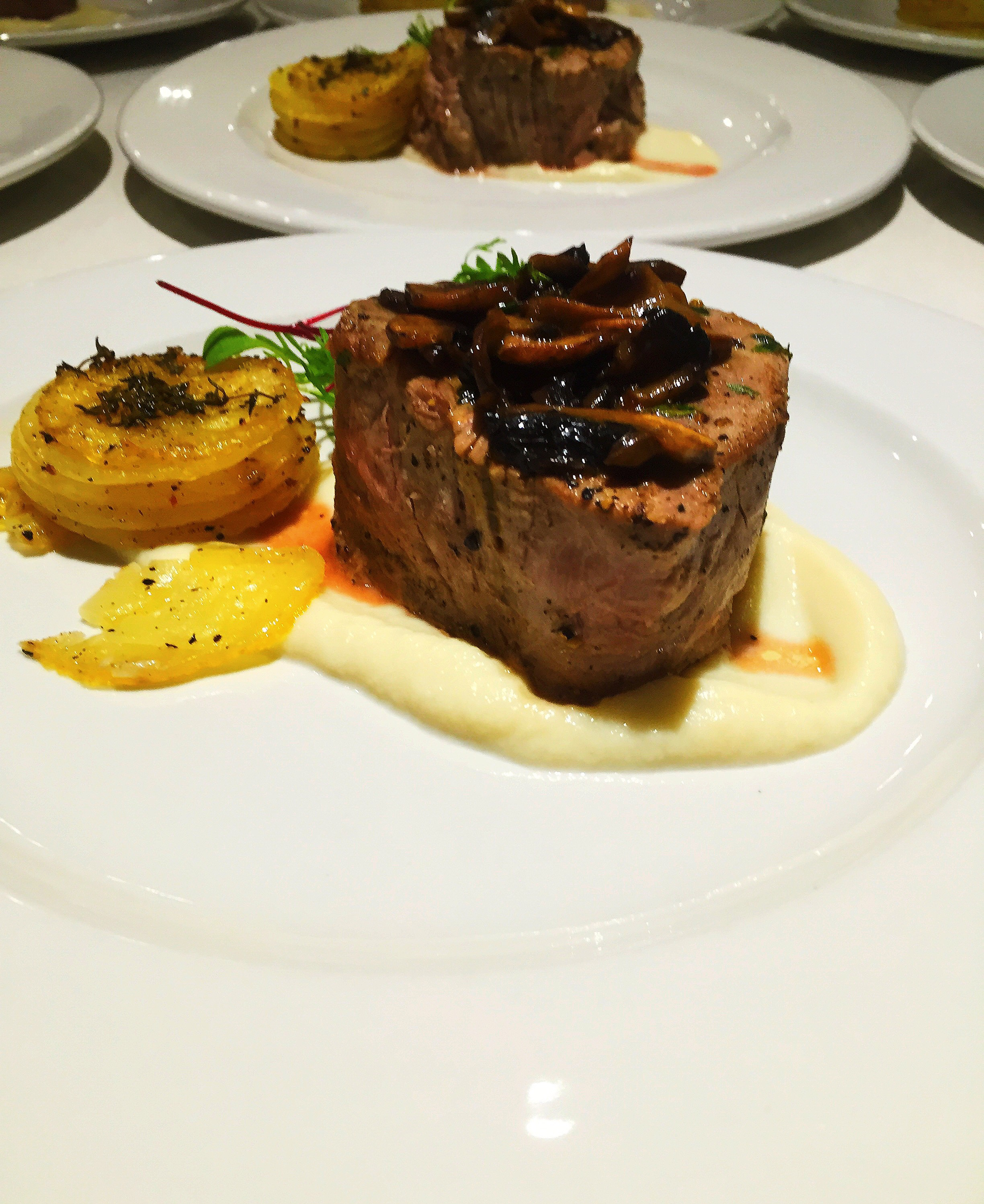 Beef Fillet with Cauliflower Puree