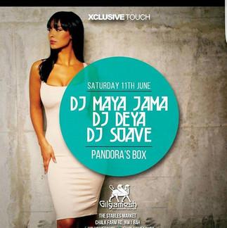 DJ Deya alongside DJ's Maya Jama & Suave