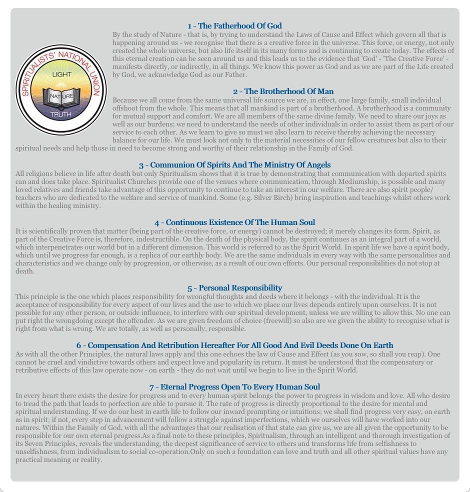Seven Principles of Spiritualism