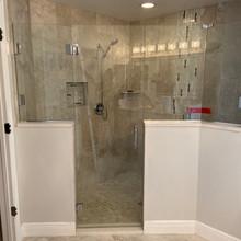 Frameles Shower Door