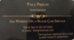 Paul Pruit Car Service Ad