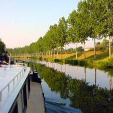 On the Canal de L'est, heading back toward the Saône