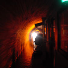 After the incline plane - a long tunnel