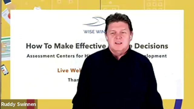 """Watch the Live Webinar """"How to make effective people decisions"""""""