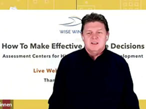 "Watch the Live Webinar ""How to make effective people decisions"""