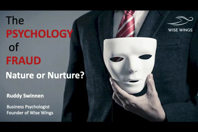 """Watch the seminar """"The Psychology of Fraud"""" - Is  it Nature or Nurture?"""
