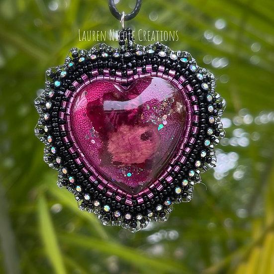 Black Lace Heart