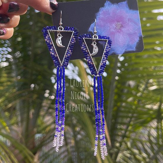 Blue Moon Fringe Earrings