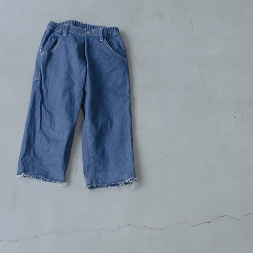 wide cropped denim