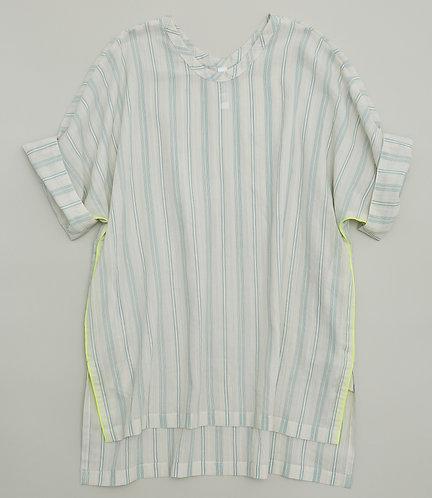stripe chiffon tunic
