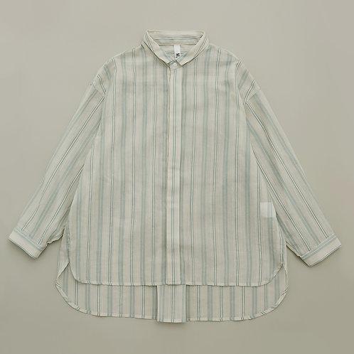 stripe chiffon big shirts