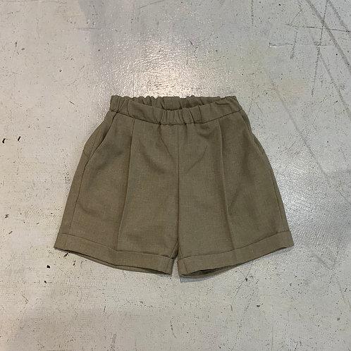 polyester canapa1tuck shorts