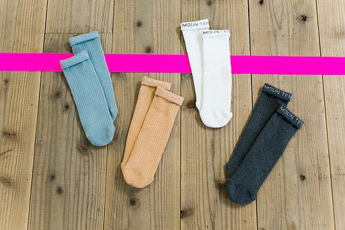 MOUN TEN. logo tube socks