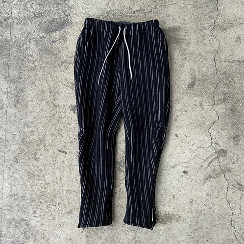 stripe quilt side zip pants