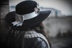 Grey Studded Hat Belt.