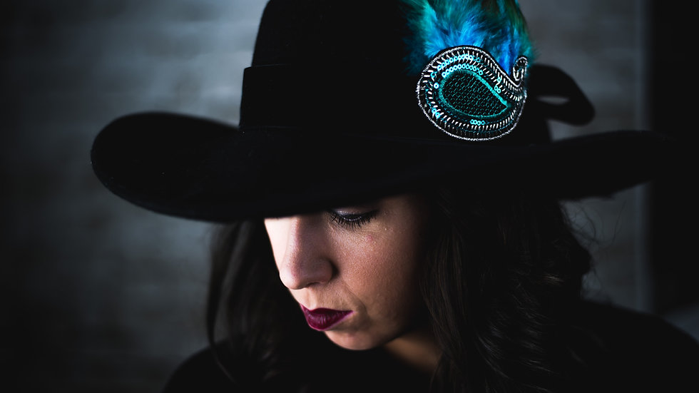 Turquoise Feather Hat Belt