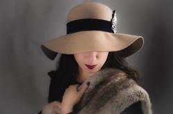 Navy Sequin Hat Belt