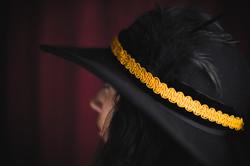 Black and Mustard Hat Belt.