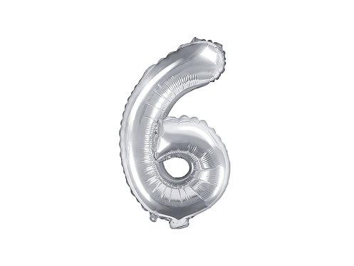 """Folieballong """"6"""" Sølv 35cm"""
