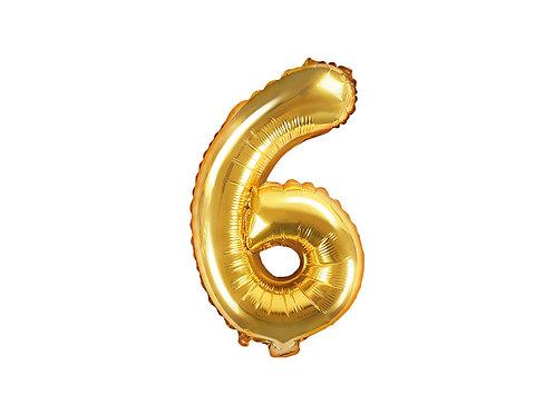 "Folieballong ""6"" Gull 35cm"