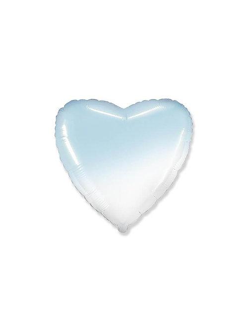 Hjerte Blå/Hvit