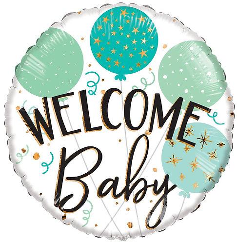 Eco Ballong Welcome Baby Green