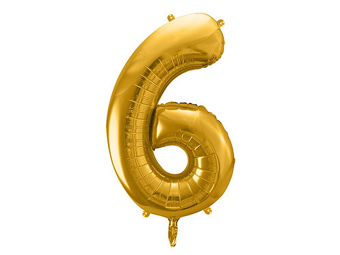 "Folieballong ""6"" Gull 40cm"