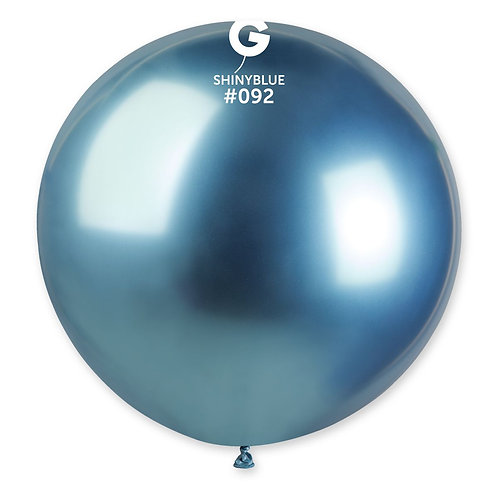 092 Giant Balloon Shiny Blue 80cm