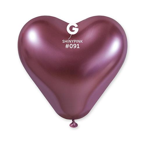 091 Heart Shiny Pink