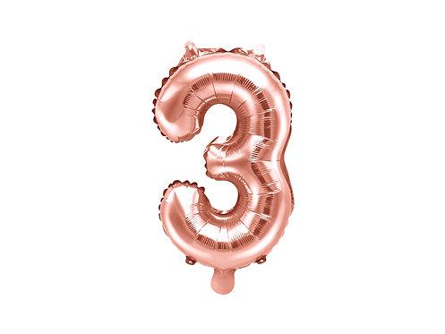 """Folieballong """"3"""" Rose Gull 35cm"""