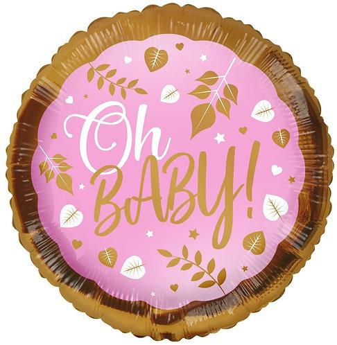 Eco Ballong Oh Baby Pink