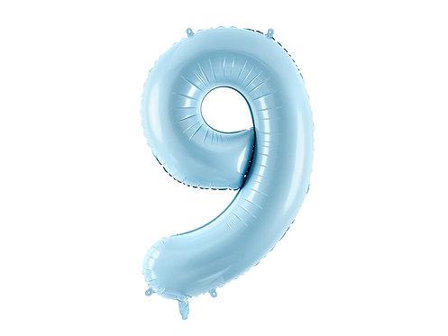 """Folieballong """"9"""" Blå 86cm"""