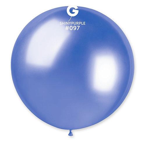 097 Giant Balloon Shiny Purple 80cm