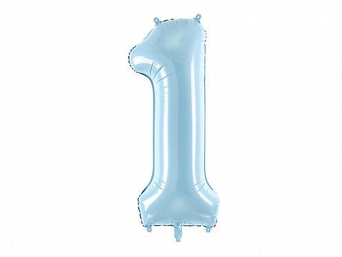 """Folieballong """"1"""" Blå 86cm"""