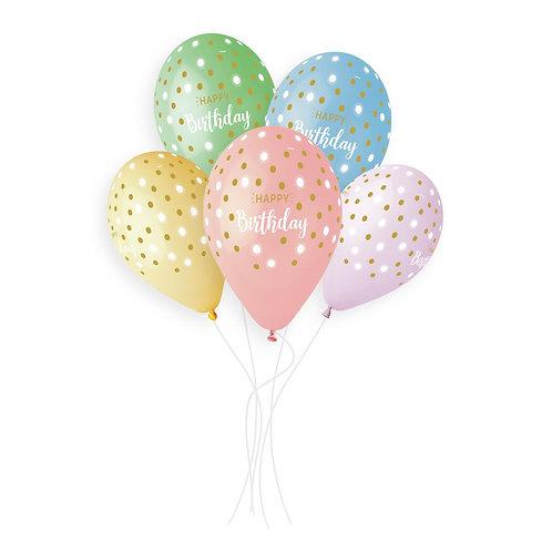 Happy Birthday&Golden Dots