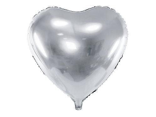 Foliehjerte Sølv
