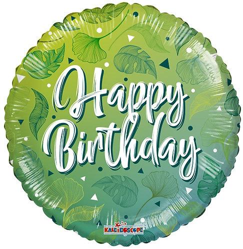 Eco Ballong Birthday Green Motifs