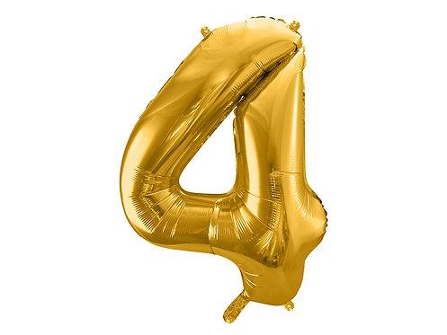 "Folieballong ""4"" Gull 86cm"