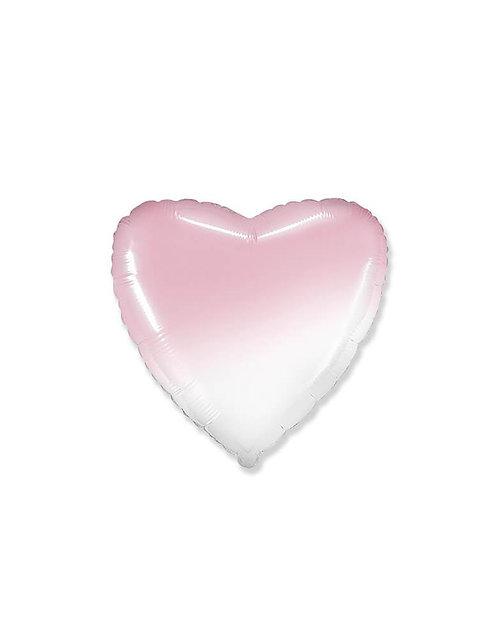 Hjerte Rosa/Hvit