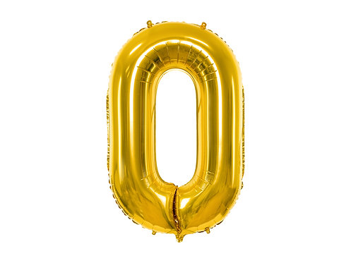 "Folieballong ""0"" Gull 40cm"
